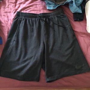 Nike dri fit knit shorts
